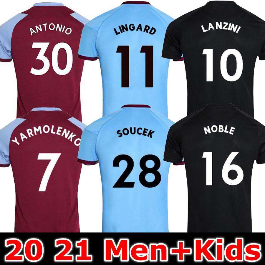 MEN Kids 20 21 Ham Home soccer jerseys 2020 2021 LANZINI ANTONIO Bowen 125th Anniversary football shirts LINGARD Haller West JerseyS