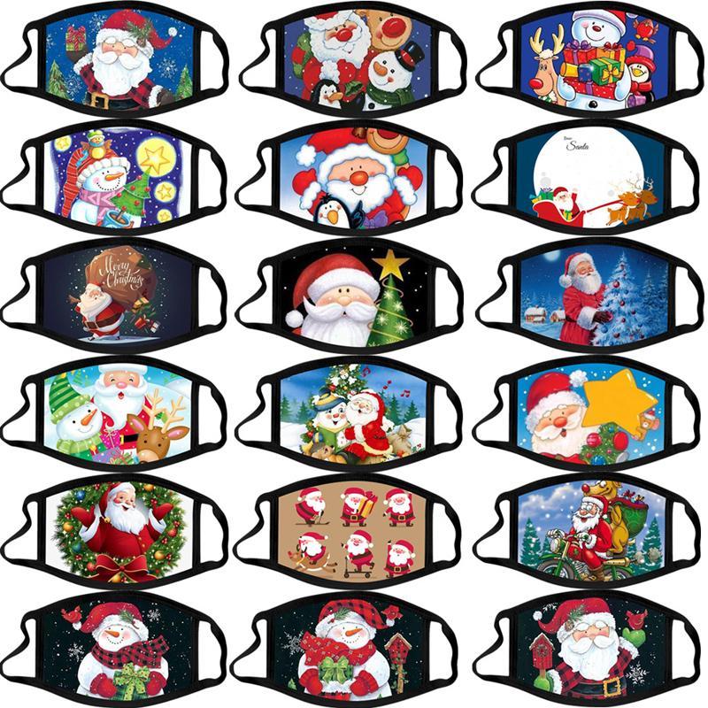 Mode Fietsen Gezichtsmaskers 3D-printen Kerstmis Halloween Gift Anti-Dust PM2.5 Outdoor Running Training Cutton Maskers Ademend Wasbaar