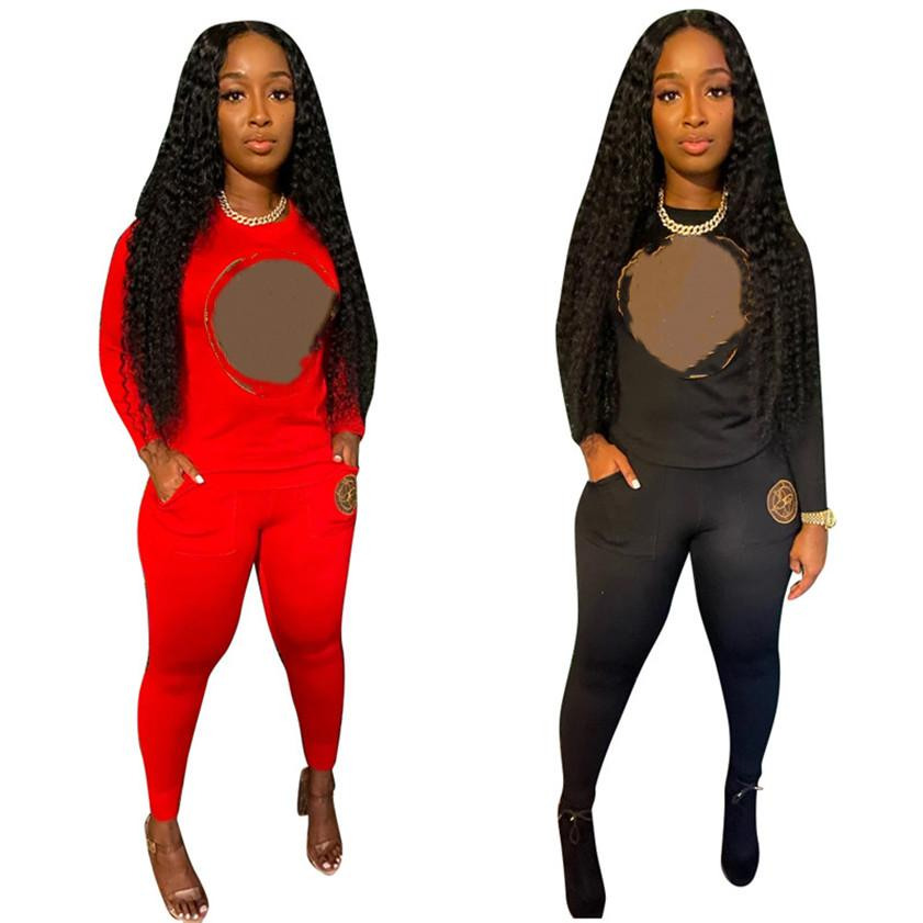 Designer Women Abbigliamento Due pezzi Set Set Joggers Sweatsuit Yoga Tracksuit Lettera Abiti Abiti a maniche lunghe Sportswear Vendita calda Vendita calda Loungewear 4093