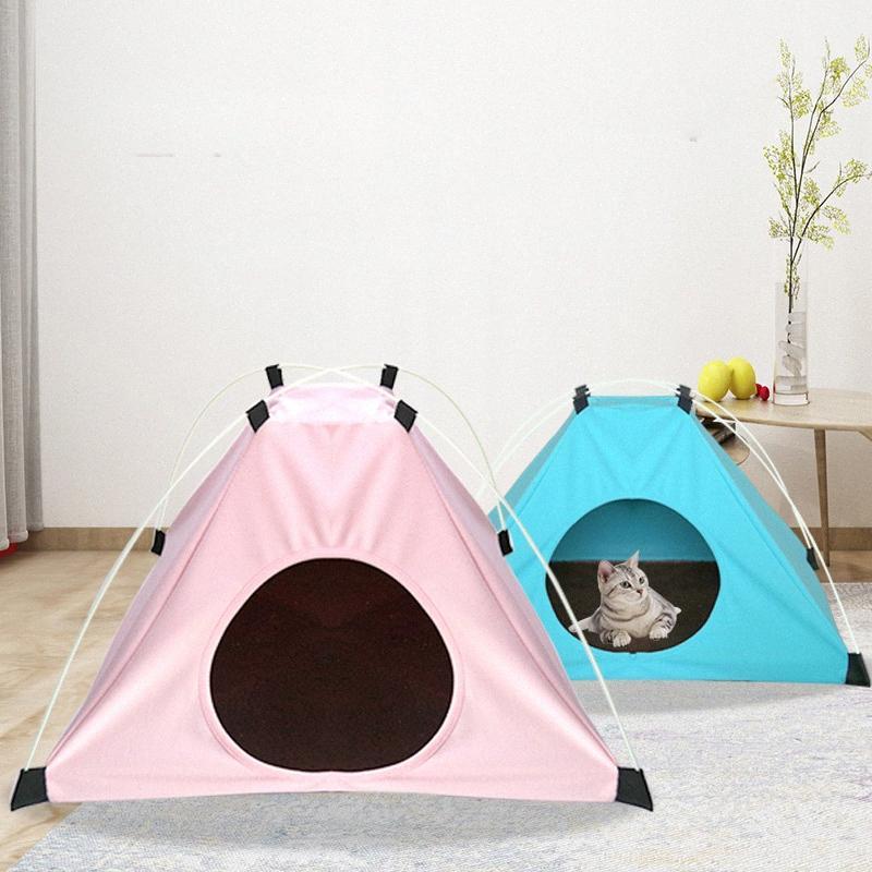 Yeni Hayvan Çadır Nest Sıcak Kedi Kumu Four Seasons Evrensel Doghouse Çadır kFfX # tutmak için bir Kadife Pad ile katlanabilir