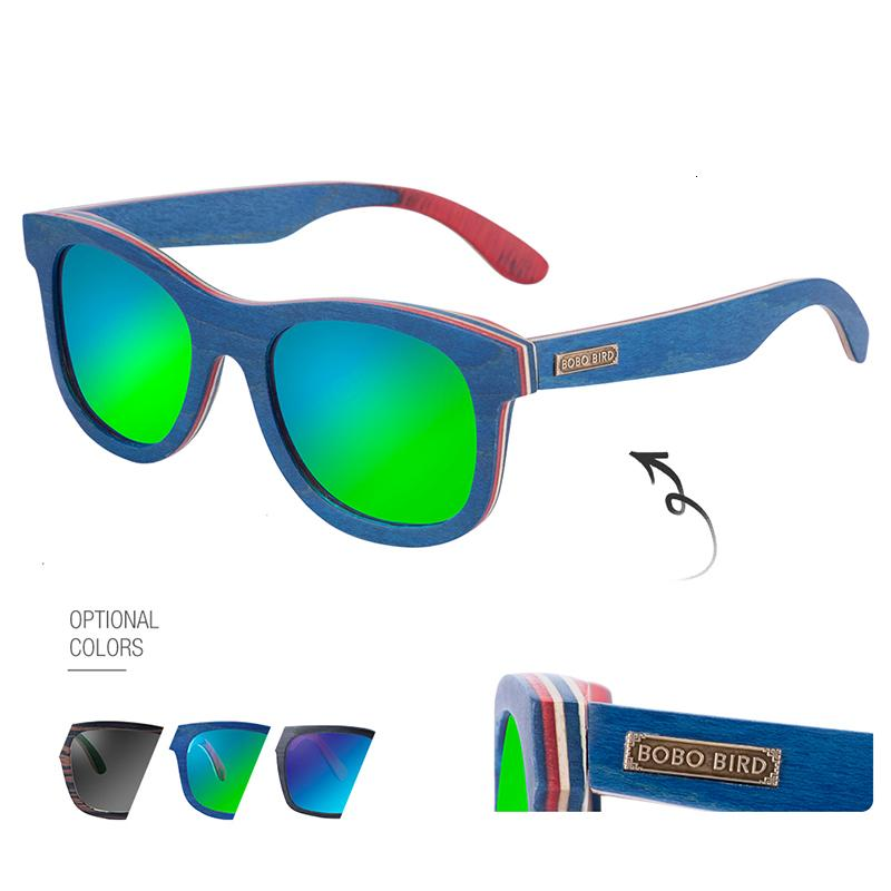 Sonnenbrille Frauen BOBO BIRD Marke Retro Holz und Männer mit drei polarisierte Linse Brille anpassen Ihr Name Drop Shipping