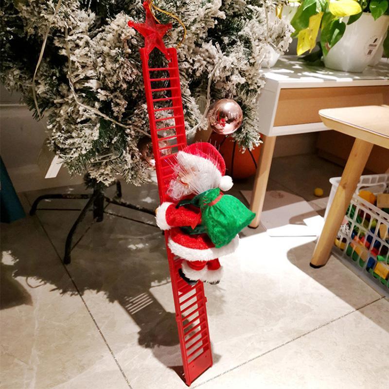 Natal decorações da janela Papai Noel enfeite de escalada da bateria uso presente de Natal de Santa Claus 2AA DWA1870