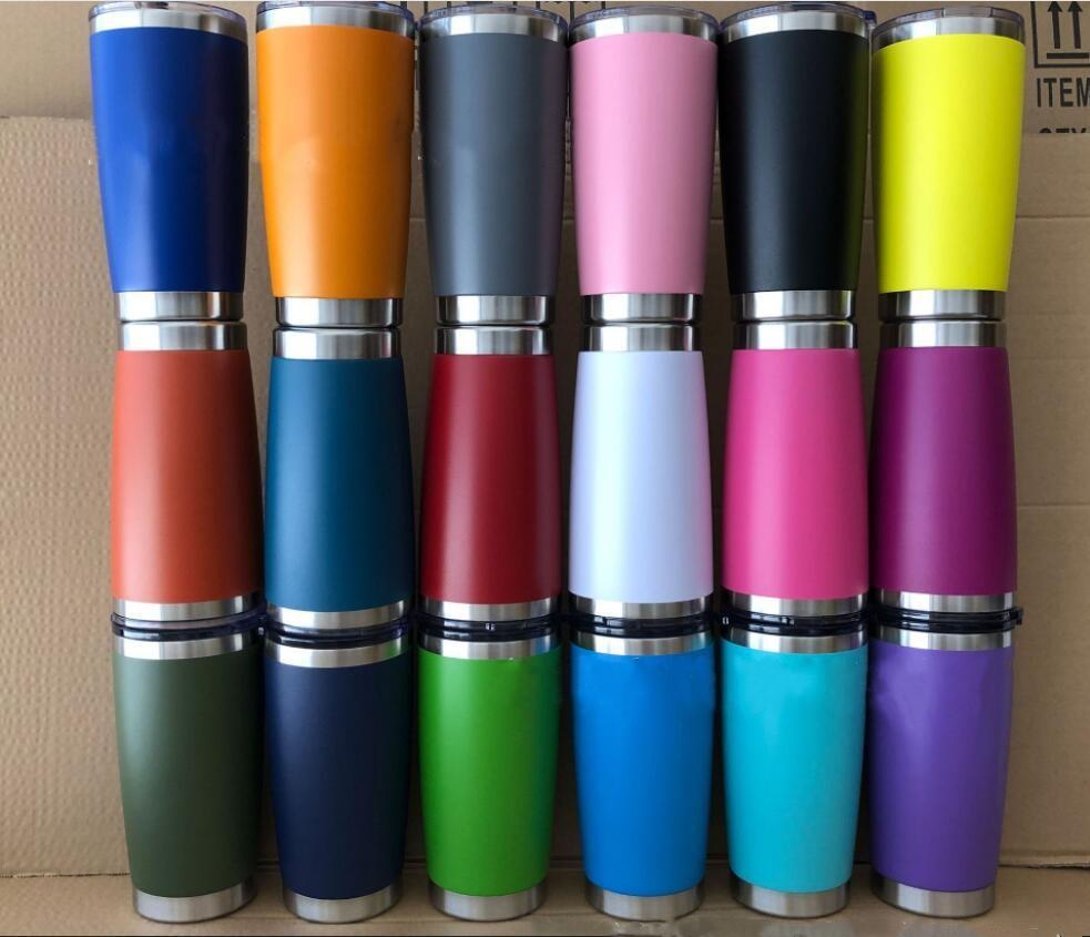 copos 20 onças carro de aço inoxidável Copos Copos de vácuo garrafa isolados caneca de viagem do metal Água cerveja caneca com tampa 50 cores LXL869