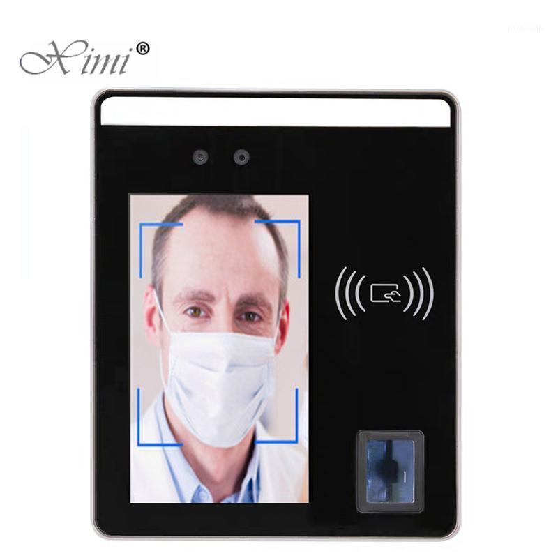 5 بوصة شاشة تعمل باللمس قناع الوجه التعرف على محطة الموظف موظف الوقت الحضور تواجه التحكم الديناميكي الوصول 1