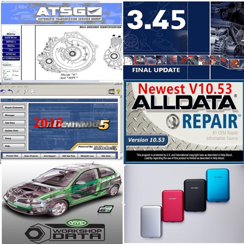 2020 Горячие Alldata 10,53 Ми ... Ell OD5 мягкая посуда все данные ми ... флигель тяжелый грузовик El ... в Vivid ATSG 49 в 1TB HDD