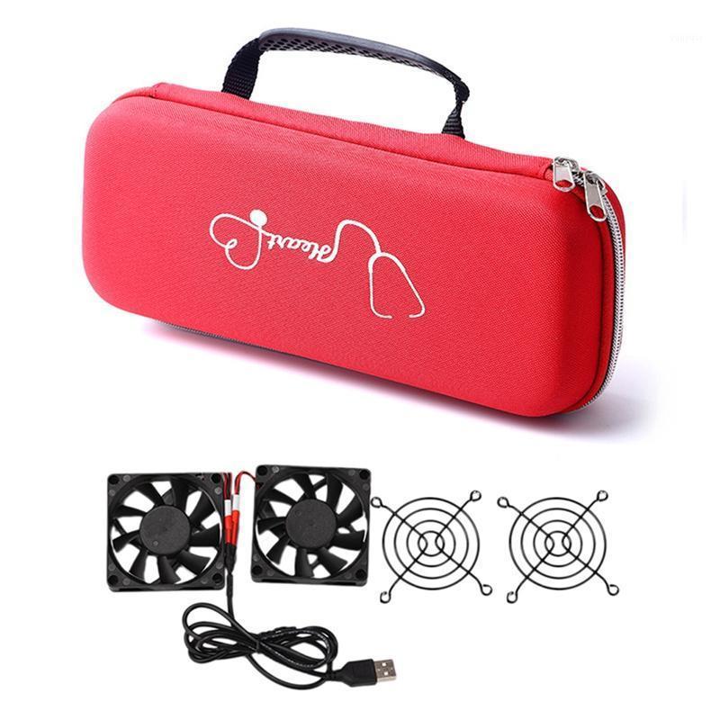 1pcs con cerniera Leggero Dual Head Stethoscope Stetoscope Caso 2pcs Ventola di raffreddamento Radiatore di calore Potenza USB Ultra Silent1