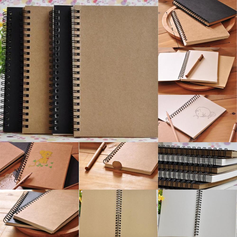 Kraft Paper Bloc de notas Suministros de oficina High 2019 Calidad Creative Sketchbook Graffiti Bloc de notas en blanco Cuaderno DHL Gratis 5 NWXMO