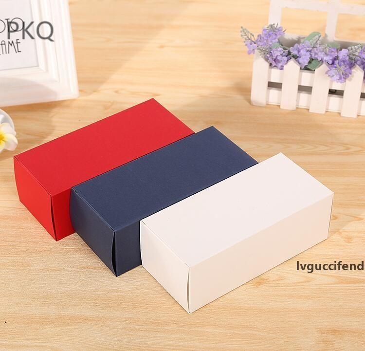 50шт DIY бумажная коробка белый / черный / крафт-бумага подарочные коробки Sunglasses Упаковка для венчания дома партии конфетной упаковки с крышкой