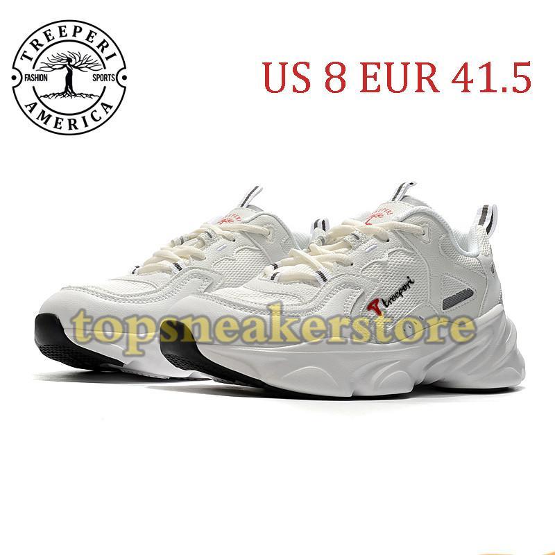 Nueva llegada Treperi Fashion Chunky Soft Sole zapatillas blancas US 8 EUR 41.5 para hombres entrenadores