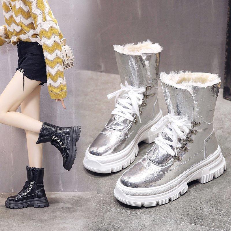 Scarpe invernali scarpe da donna impermeabile stivali da neve impermeabili confortevoli e caldi peluche in panno paillettes da donna scarpe da donna stivali da donna