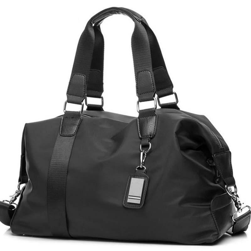Reise tragbarer Versand Taschen Gepäck frei Kapazität Männer Totes PU + Nylon Casual Travel Duffle für Mode Handtaschen Männer Große HVFQG