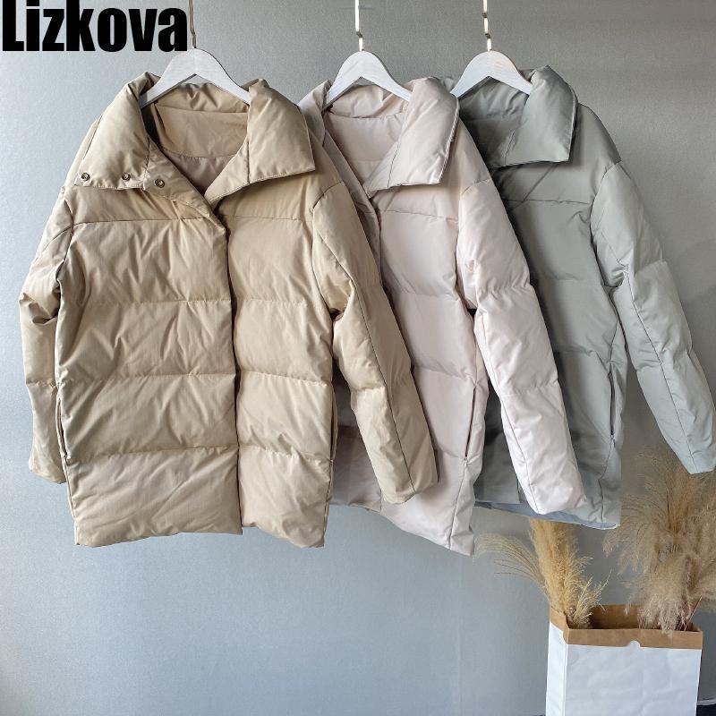 Lizkova hiver NOUVEAU PARKAS WHITE WHITE FEMMES COUTEAUX QUILTÉS À POUVOIRSION CASSINE TP120 201027