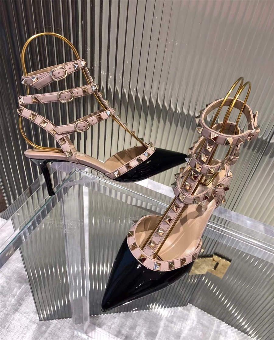 Mode d'été Chaîne de perles Chaussures de cristal Clear Transparent Talon Talon Talon Evénements Événements Taille 35 à 40 # 19744444