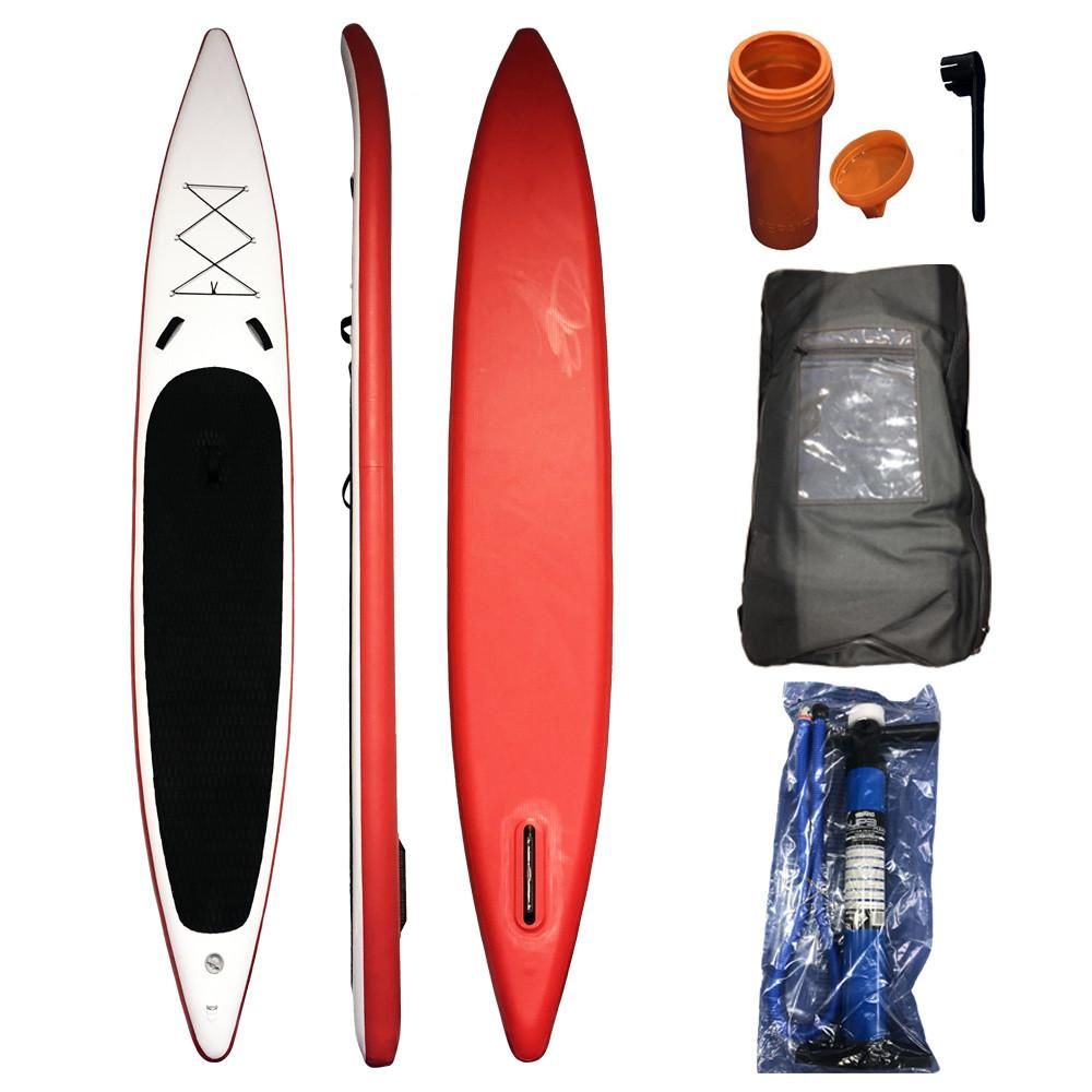 380x70x15cmInflatable Surf Stand Up Sup Paddle Board Water Surfing Fast Speed Race Inflatable Surfboard Wakeboard Kayak Boat