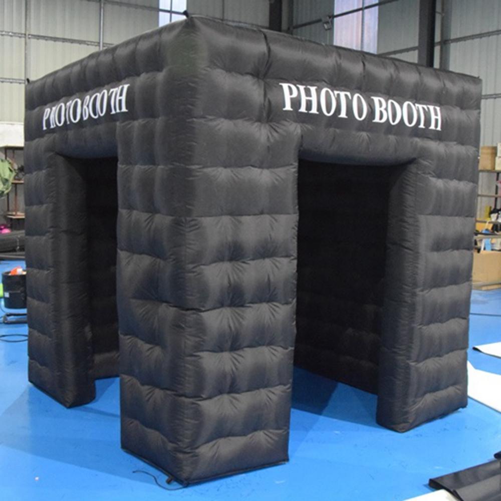 4x4x3.2m Preto Oxford Photo Booth Backdrop Inflável Caixa de Foto Blower Estrutura de Ar Estrutura de Ar Selfie Melhor Fábrica