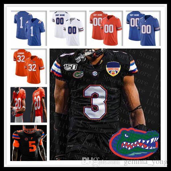 Benutzerdefinierte 2021 NCAA Florida Gators Jersey Fußball Kyle Trask Emory Jones Dameon Pierce Kadarius Toney Ventrell Miller Kyle Pitts Trevon Grimes