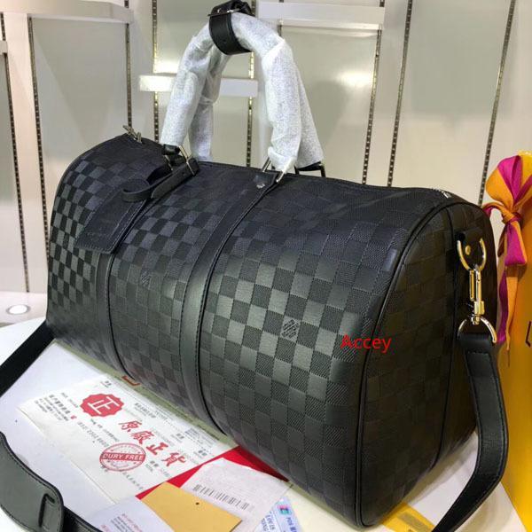 # 5840 5A L Marca V keepall bandoulière de gran capacidad de las mujeres bolsa de viaje 45CM hombro de los hombres Bolsos de tela llevar el equipaje bolsa Keepall 40166 41418