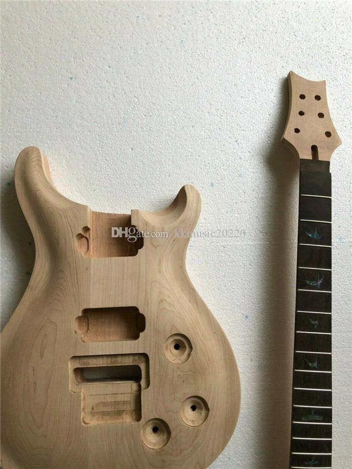 1set 미완성 기타 목 바디 메이플 + 마호가니 일렉트릭 기타 키트 22 Fret DIY