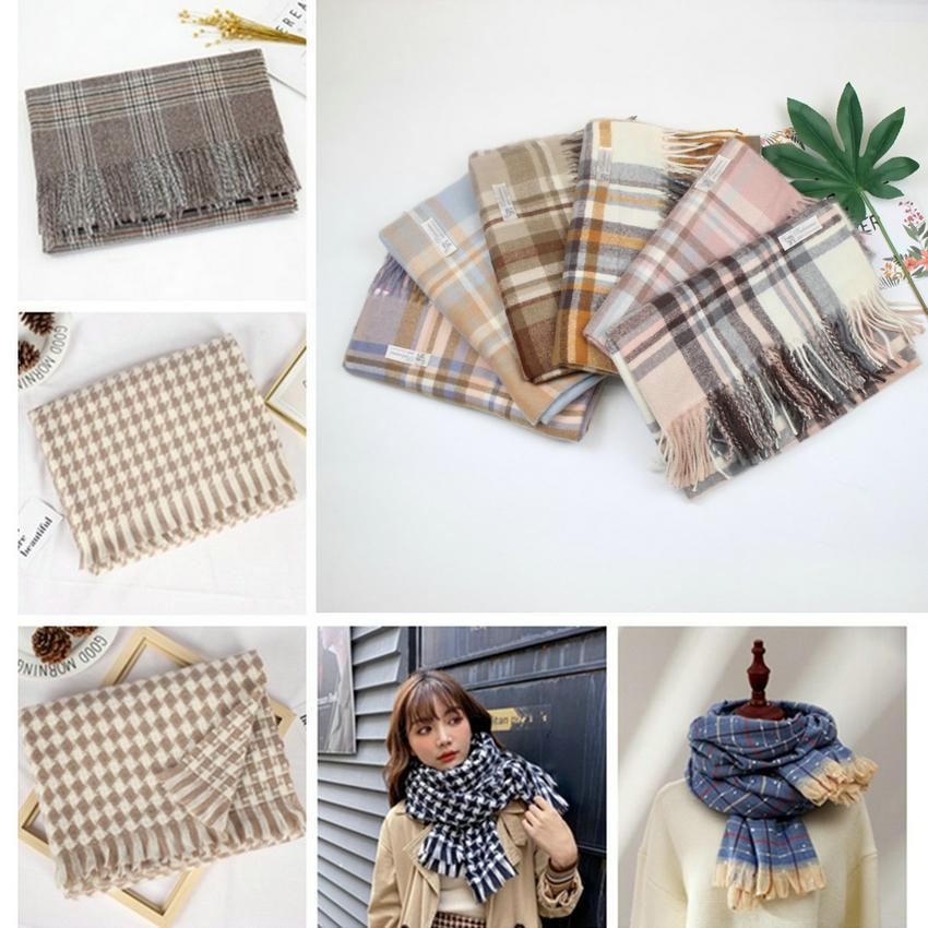 New keep warm Imitation cashmere color checkered scarf women fashion autumn/winter new warm shawl neck