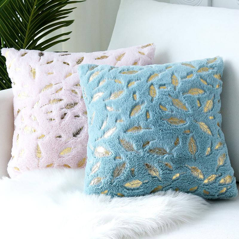 Cubiertas de peluche de piel Cubiertas de almohadas Casas de almohada decorativa Cama Sofá Almohada Almohadas Asiento de coche Cubierta Cubierta Tirar Decoración de Hogar Bnarp