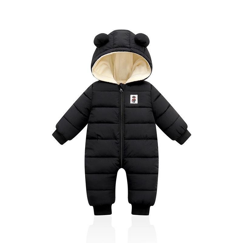 2020 Salopette infantile Veste à capuche pour enfants d'hiver Jumpsuit fille garçon Parkas pour bébé Romper Vêtements Habineige Nouveau-né