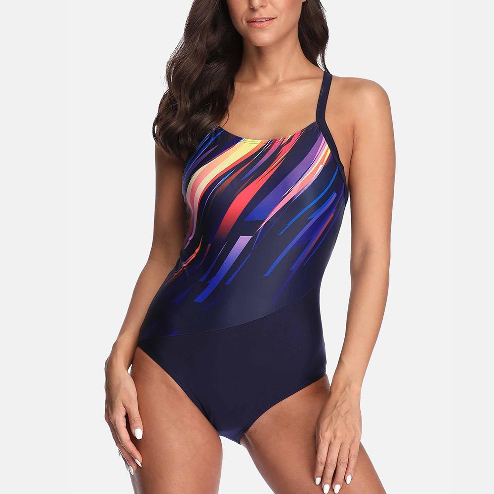 Anfilia Bayan One Piece Spor Mayo Atlet Spor Mayo Bikini Plaj Giyim Mayo