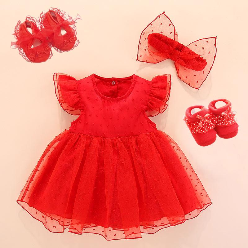 Bebé recién nacido que ClothesDresses algodón princesa Baby Dress bautismo bebé blanco vestido de 1 año Tipo de ropa niña de cumpleaños 0 3 6 meses de 1027