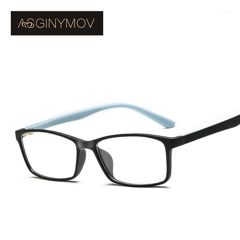 Солнцезащитные очки как Ginymov TR90 анти-голубой светло-очки для глаз Студенческая Оптическая оправдательная рама подростки Миопия Эластичная радиационная защита Очки для очков1