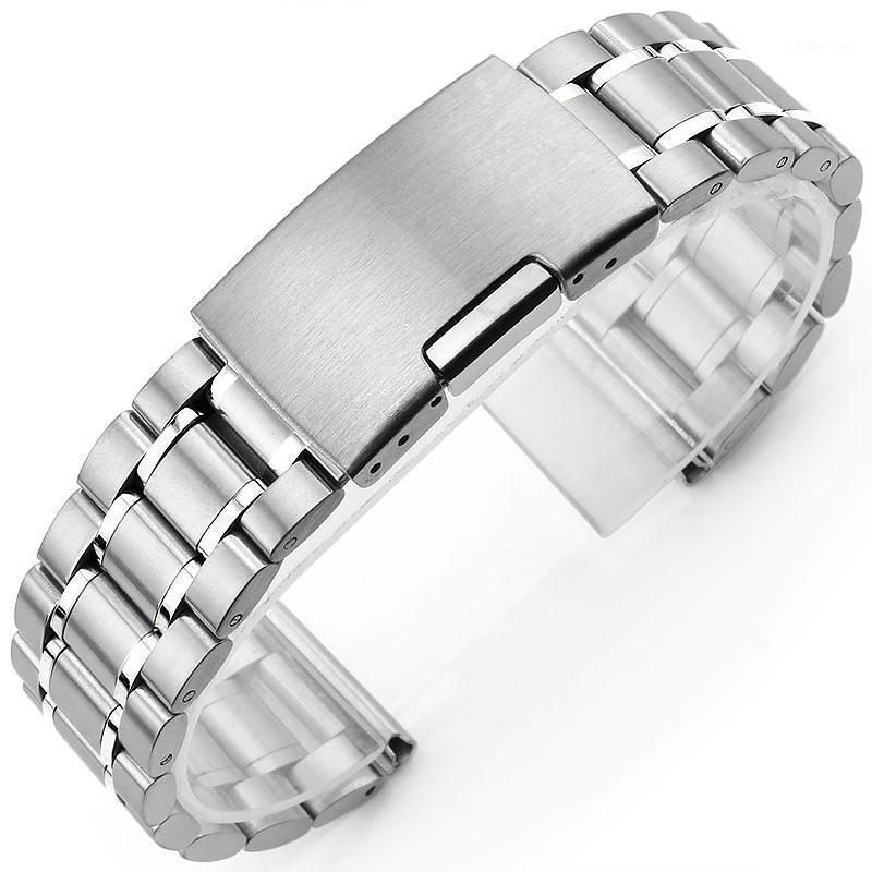 Neue Herren Rose Gold Uhrenarmband 16mm 18mm 20mm 22mm 24mm Silber Schwarz Edelstahl Uhrenarmband Straight Ende Armband1