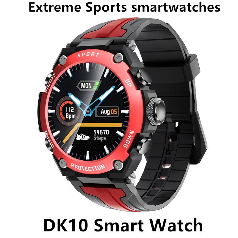 DK10 الحركة حد الساعات الذكية الارتفاع الغوص ووتش IP68 للماء معدل ضربات القلب واللياقة البدنية الرياضة ووتش الطقس ثلاثة البوصلة التدقيق