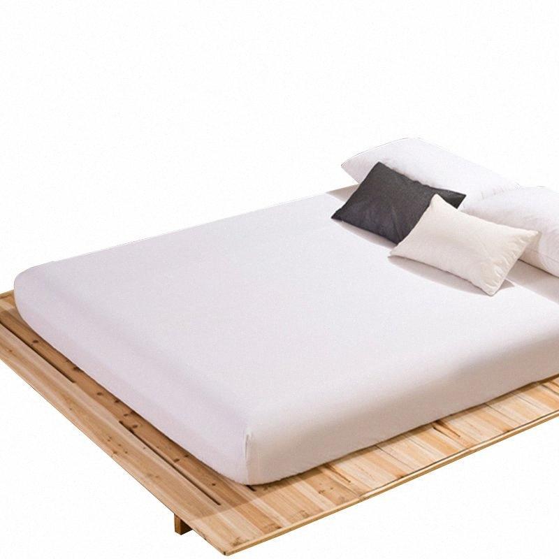 Elastik Band Çift Queen Size Çarşaf 160x200cm SISb # ile Lastikli Çarşaf Yatak Örtüsü Katı Renk Zımpara Yatak Örtüleri Çarşaf