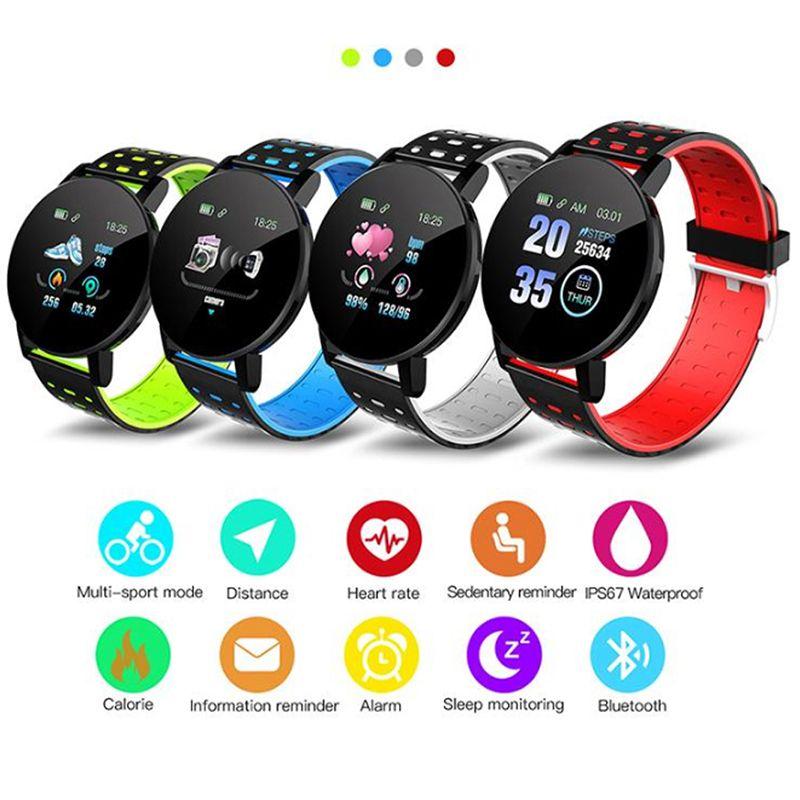 119 Plus-Smart-Armband Fitness Tracker ID119 Uhr Herzfrequenz-Armband Smart-Armband 119Plus Für Handys mit dem Kasten Fitbit MI
