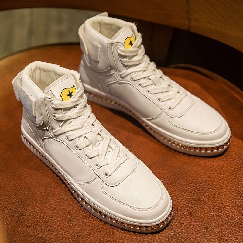 2021 Marka Moda Lüks Tasarımcı Ayakkabı Güz Kış erkek Sneakers Rahat Ayakkabılar Erkekler Kadınlar Yüksek Feet Erkekler Beyaz Deri Renk Yansıtıcı PU