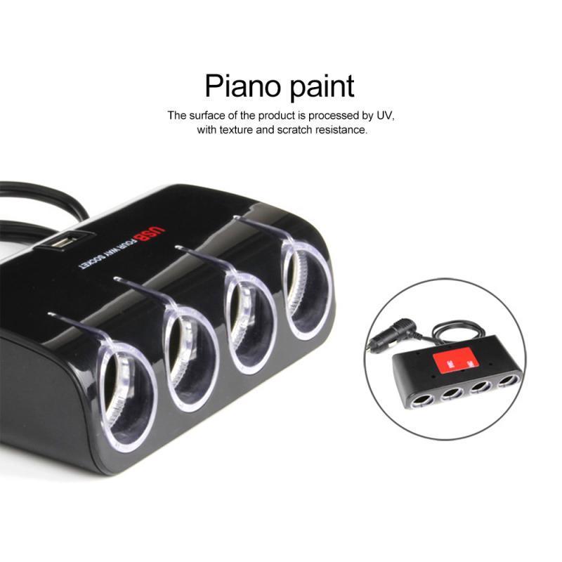 12V / 24V 100W Universal-4 Möglichkeiten, Auto-Zigarettenanzünder-Adapter-Splitter-Adapter Dual USB Car Charger DVR Zubehör