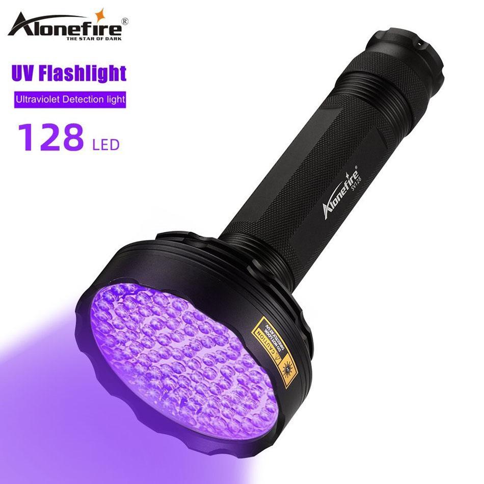 AloneFire SV128 UV Torcia UV Torcia ultravioletta 128 LED 395nm Torches Detector Blacklight per Animali domestici Dry Pets Urina Stain