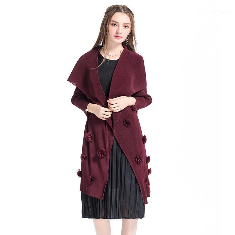 Женщины плиссированные модные куртки бутик весенняя верхняя одежда повседневная х-длинная тонкий парусник