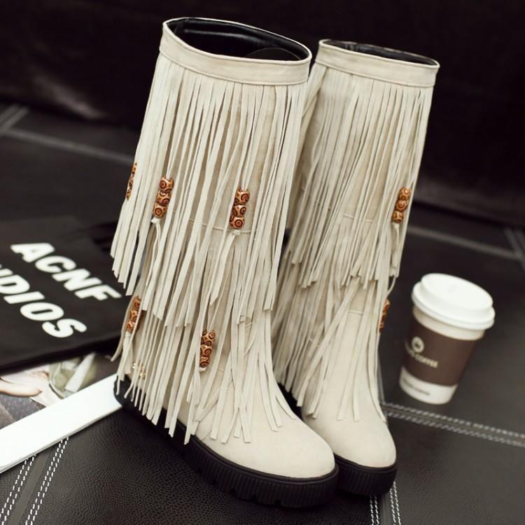 Kış Kadın sıcak Diz Yüksek Boots Retro Pu Deri Ayakkabı Toka Platformu Şövalye Çizme T187