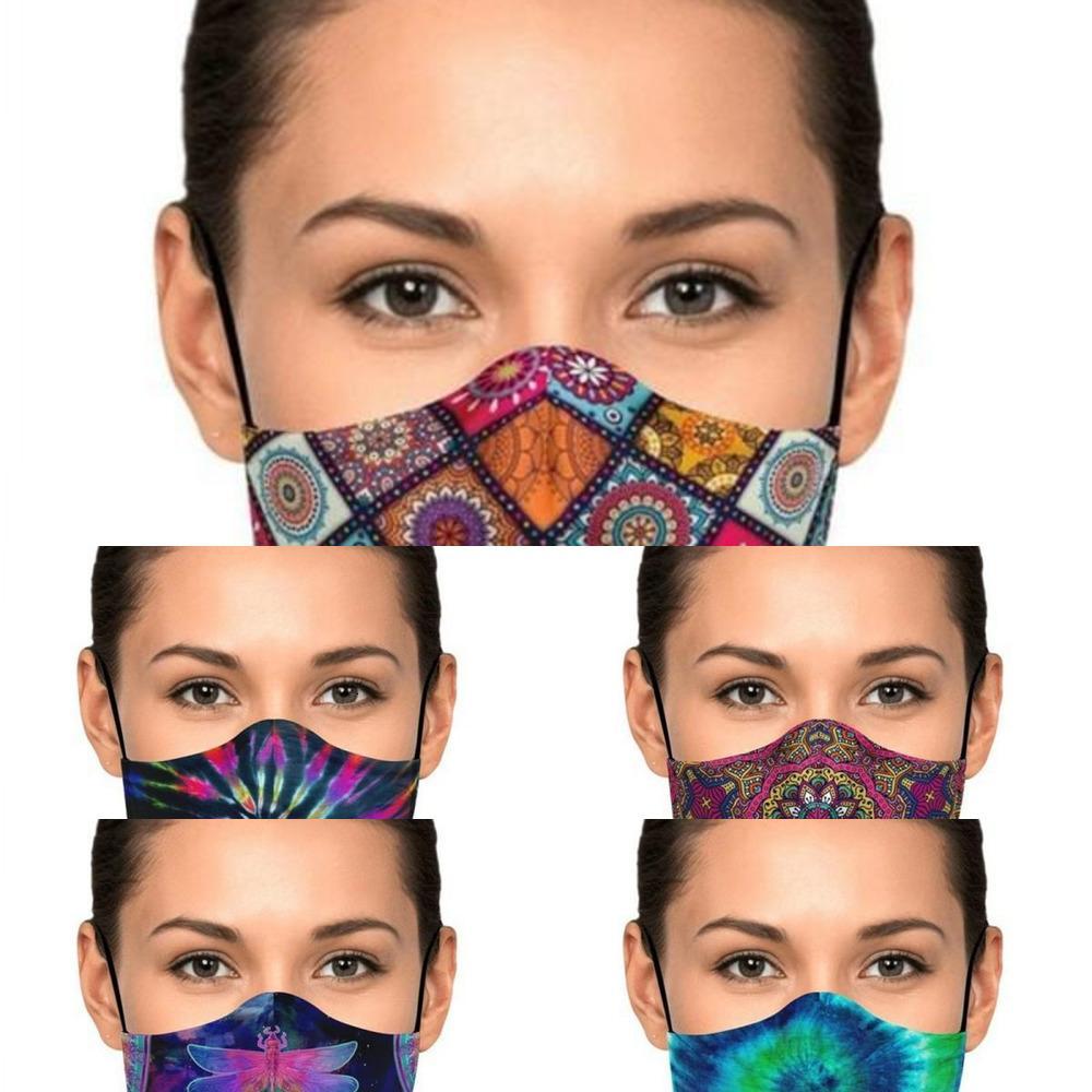 Verschiffen Waschbare Schutzgesicht Abdeckung Erwachsene Anti Staub Radfahren DHL Mund Maske Wiederverwendbare Stoffmasken PM2.5 Staubdichte Maske Kimter-ZZ