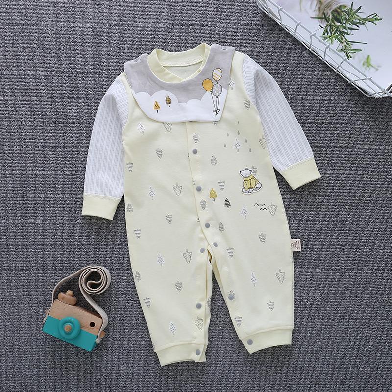 2020 Nuova tuta del bambino della primavera e di autunno Chiuso neonato di un pezzo del bambino Abito A Maniche pagliaccetto bambini vestiti