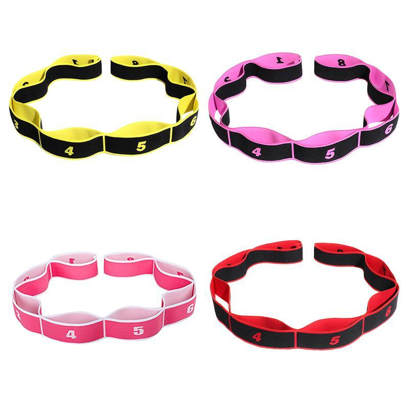 New Latin Dance Bracelet extensible avec 8 boucles élastiques en nylon latex bande Stretching outil Fitness Sport exercice Fournitures Stretching