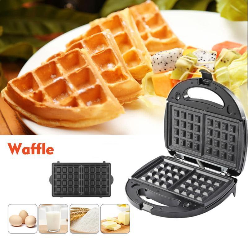 3-in-1-Sandwich-Maker Waffel Maker Sandwich Grill Abnehmbare Antihaftbeschichtung Haushaltswaffle Eierkuchenofen Frühstücksmaschine