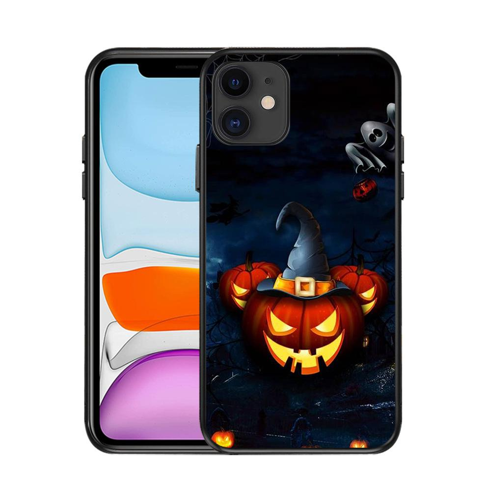 Für iPhone 12 Pro-Hüllen Iphone 11 Pro max Schmutz-beständig TPU Halloween-Tag Jack Geist XR Kürbis Lampe Telefon-Kasten
