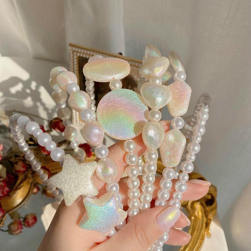 perlas de época niñas con encanto palos de las mujeres del pelo venda de la manera de la sirena del diseñador cintas para el pelo accesorios del pelo para las mujeres dirigen bandas B1466