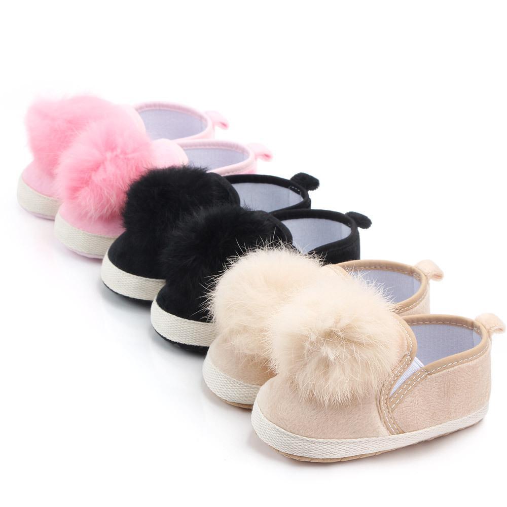 Осень ребёнок малыш первых ходунки обувь для волос мяч принцесса обувь новорожденная детская обувь