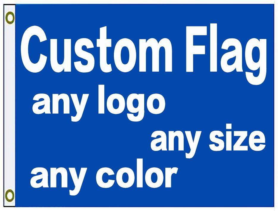 90x150cm المصنع مباشرة 3x5ft العرف طباعة العلم راية مع شعارك تصميم مخصص العلم شعار تخصيص العلم