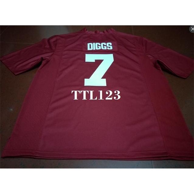 Männer # 7 Trevon Diggs Alabama Crimson Tide Rot Schwarz Weiß College Jersey oder benutzerdefinierte Neiner Name oder Nummer Jersey