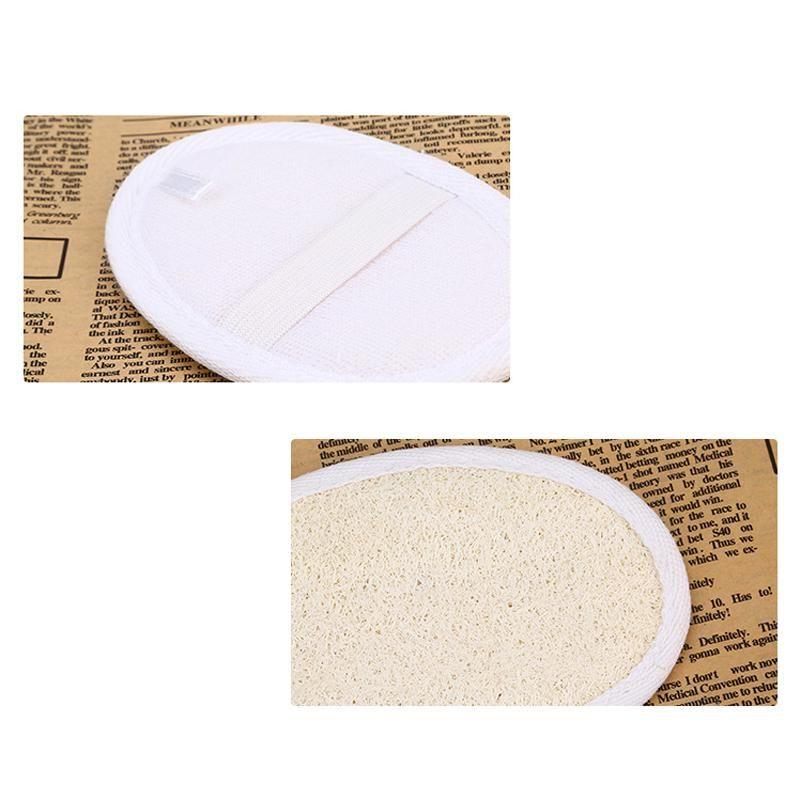 اللوف وسادة اللوف الطبيعي الغسيل إزالة الجلد الميت اللوف وسادة الإسفنج تنظيف المنزل أداة الجسم الجلد الاستحمام تدليك أدوات 8 * 12 سنتيمتر EWF2692