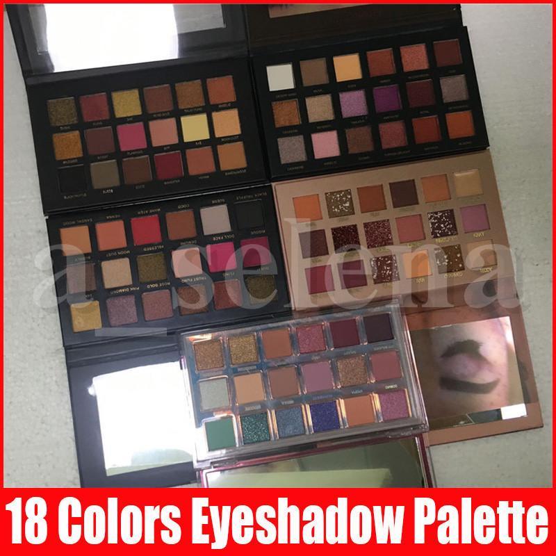 New Beauty Eye Makeup palette 18 colors Eyeshadow Palette matte shimmer Rose eye shadow paletes 5 styles