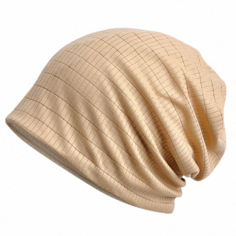 Mince respirante Hommes Femmes Tricoté Caps Printemps Eté Coton Bonnet Chapeau Solide Couleur Skullies Beanies multifonction Hedging Cap vWOn #