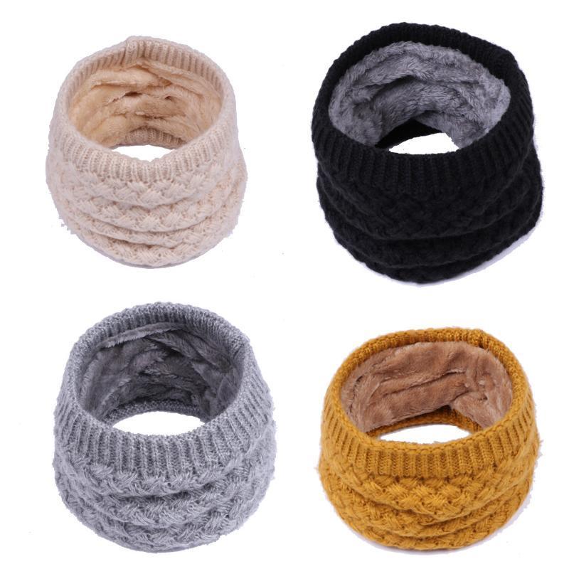 1Pc inverno caldo spazzolato Knit scaldacollo Circle uscire Wrap Cowl Loop Snood Scialle Outdoor Sci Arrampicata sciarpa per gli uomini donne